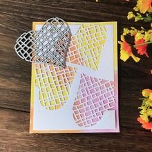 Hollow Love Heart Shape Metal Cutting Dies for Scrapbooking DIY Album Embossing Folder Paper Card Maker Template Decor Stencils