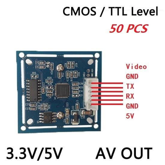 bilder für NEUE lösungen 50 teile/los RS232/TTL JPEG Digital Serial Port Cctv-kamera-modul SCBW mit video Unterstützung VC0706 protokoll