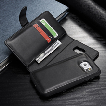 Multifunction Wallet Phone Case For Samsung Galaxy S6 G9200 G920F S6 Edge G9250 Flip Leather Cover Phone Bag Zipper Purse Pouch
