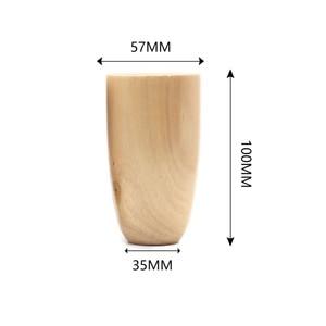 Image 5 - 4 قطع أرجل الأريكة الخشب مستدق أثاث خشبي الساقين الخشب اللون 10 سنتيمتر
