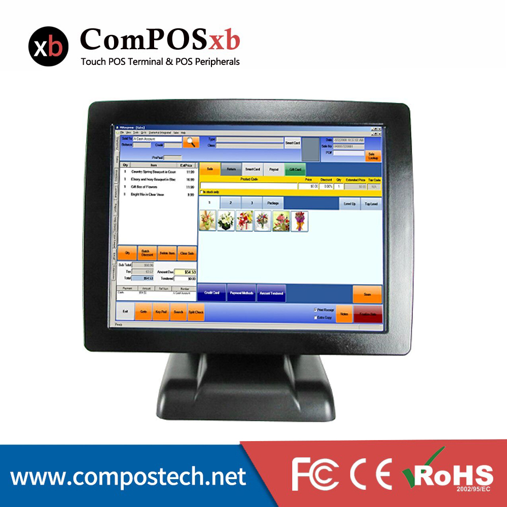 Cheap POS System 15 Inch Touch Screen Cash Register Online POS Terminal All In One Made In China все цены