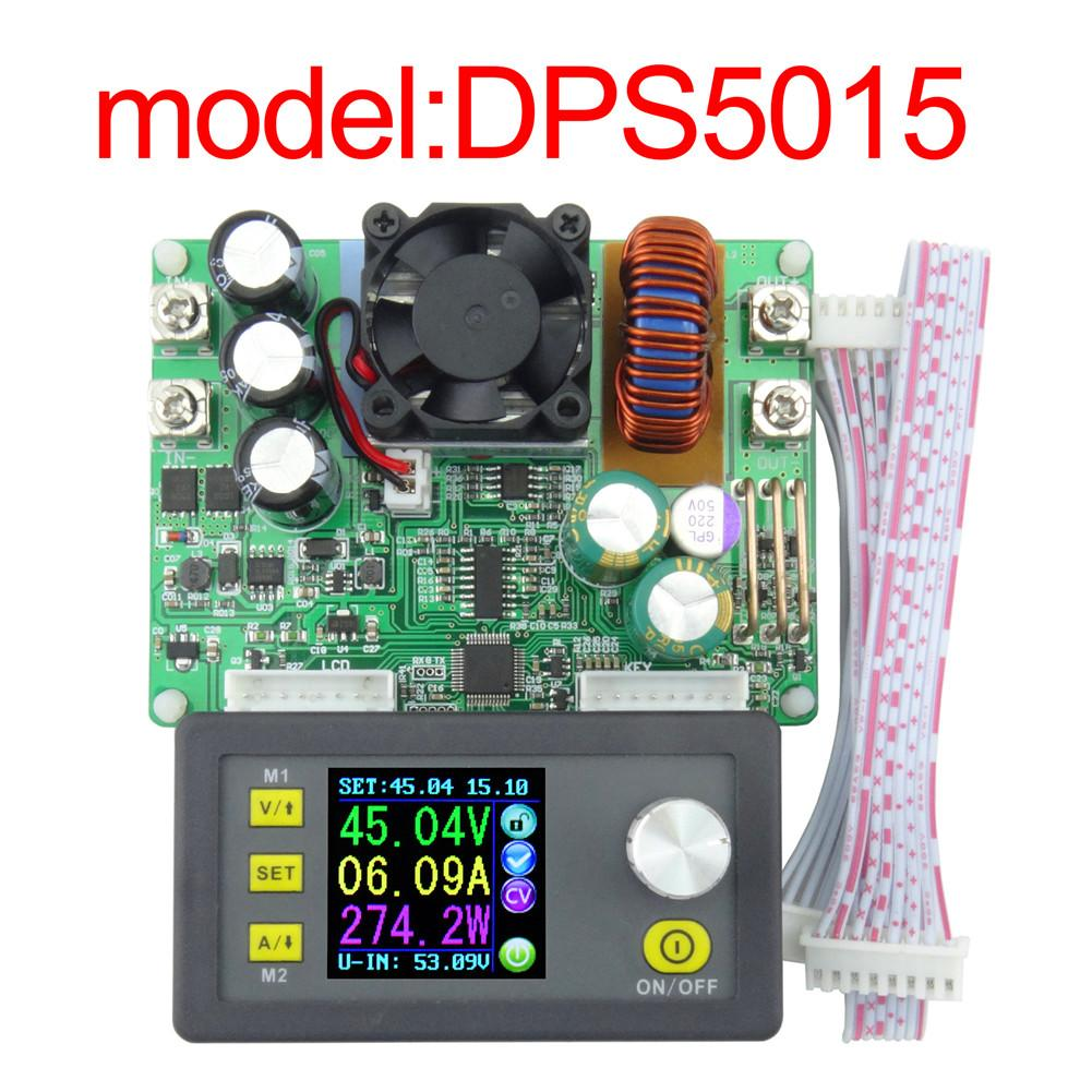 DPS5015 LCD Constant Voltage Current Tester Step-down Programmable Power Supply Module Regulator Converter Voltmeter Ammeter 10% constant digital voltage current meter step down dp50v2a voltage regulator supply module buck color lcd display converter