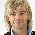 2016 Новый Короткий Прямой Блондинка Цвет Гламурная Мода Полный Синтетические Волосы Мужчины Парики
