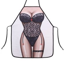 LIOPEAN Sexy Novelty Apron Sexy Kitchen Aprons for Women Funny Naked BBQ Party Bar Aprons Cooking Apron Waiter Cooking Tools