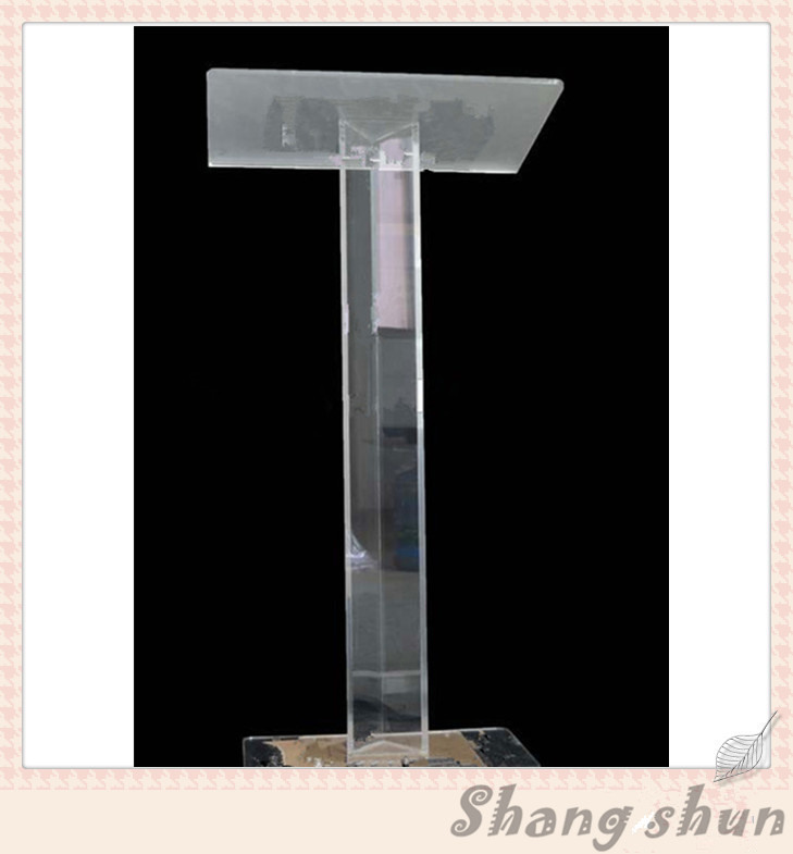 Custom Perspex Church Podium/Pulpit Church Pulpit Glass Clear Acrylic Lectern Podium Rostrum Stand Acrylic Display Platforms