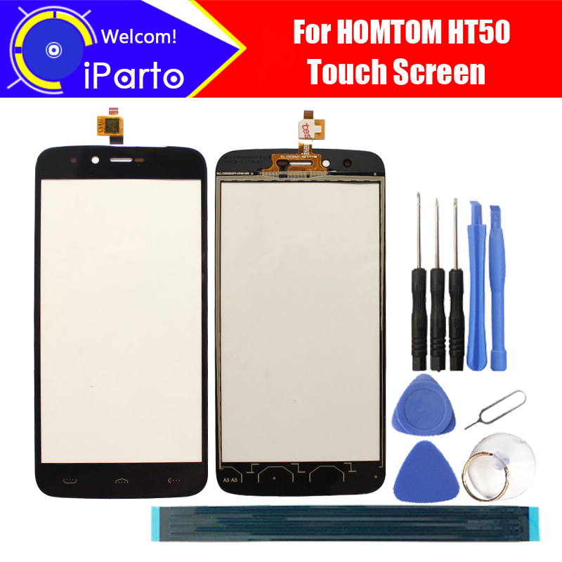 5.5 inch HOMTOM HT50 Touch Screen Glass 100% Guarantee Original New Glass Panel Touch Screen For HT50 + tools+Adhesive
