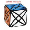 2016 Nueva Lanlan 8 Ejes Rex Cube 2x2 Profesional Cubo Mágico Puzzle Velocidad Juguete Clásico de Aprendizaje de Educación Especial juguetes