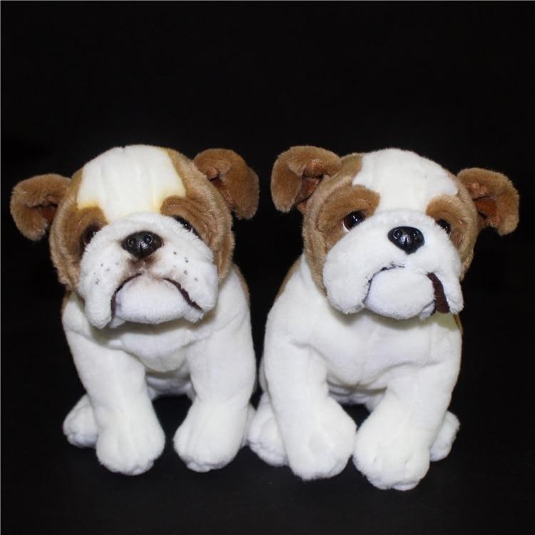 ФОТО Stuffed Animal Toy Simulation Bulldog  Doll  Plush Toys Valentine'S Children'S Gift