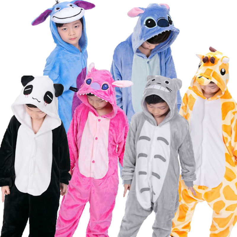 b9ca66d71 Kigurumi Onesie Children's Animals Pijama Kids Winter Flannel Unicorn Boys  Girls Pajama Cosplay Pajamas Sleepwear Baby Jumpsuit