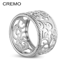 Cremo Lace Ring Personalized Hollow Flower Finger Argent Knuckle Reversible Leather Rings Bijoux Femme Bridesmaid Jewelry