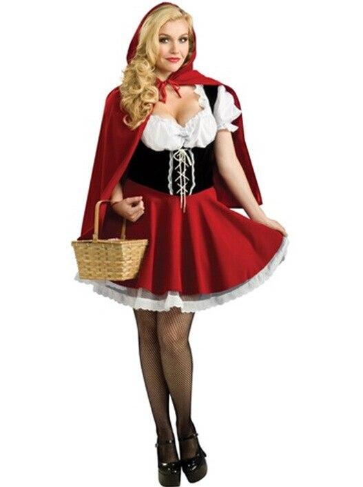 Disfraces de Halloween Para Las Mujeres Sexy Fantasy Cosplay Caperucita Roja los Uniformes de juego de