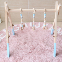 Eva2king Hot Selling Baby Wooden Beads Bed Bell Toddler Toys Photography Props Kids Babies Room Decoration Kawaii Style Gifts