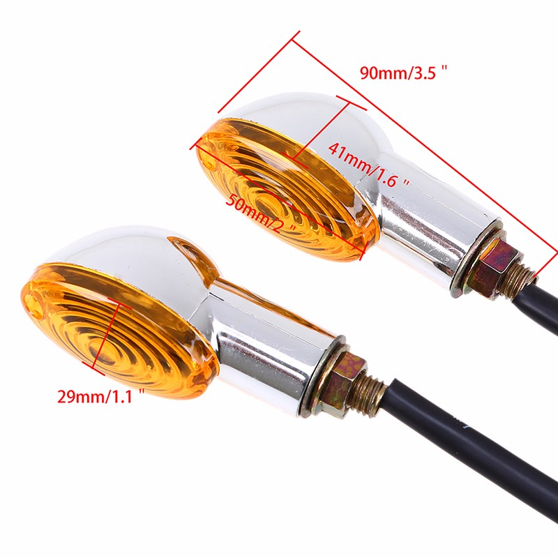 POSSBAY Universal Motorcycle Turn Signal Light Lamp 2 Pcs Indicator Blinker Flasher For Yamaha Suzuki Harley Honda Signal Lamps