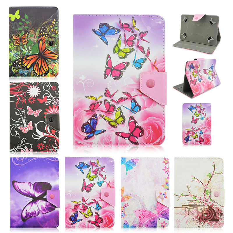 Butterfly Leather Stand Cover Case For Fly Flylife Connect 10.1 3G 2 10.1 inch Universal 10 inch Tablet+Center Film+pen KF492A butterfly pu leather stand case cover for tablet irbis tx12 10 1 inch universal 10 inch tablet cases center film pen kf492a