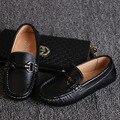 2018 primavera otoño negro niños zapatos para boda niño Zapatillas moda niños zapatos cuero niños zapatos para niños mocasines