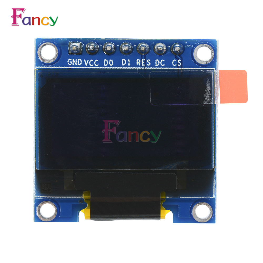 3-5V 0.96 0.96 inch SPI Serial 128X64 OLED LCD LED Display Module blue yellow for Arduino