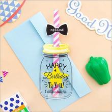 1 шт./компл. Творческий RSS бутылка открытка Почтовые открытки на день рождения Письмо Конверт подарочные карты набор карт сообщение