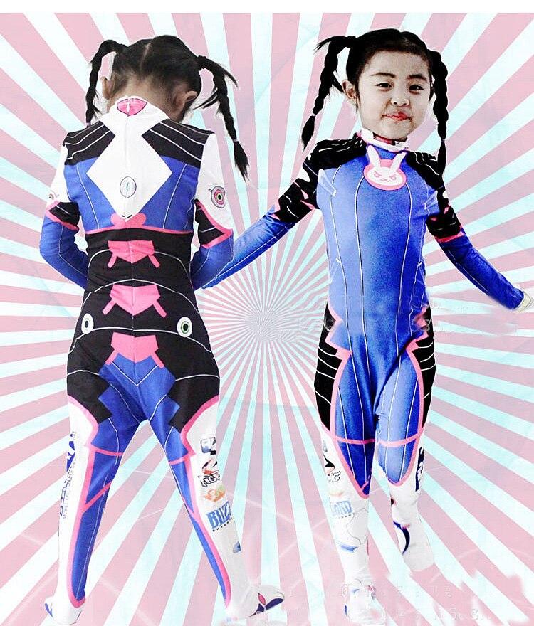 2019 Halloween costumes 3D Printing Overwatches Lady D VA Costume for women plus size Cosplay dva Zentai Spandex Dva Bodysuit 5