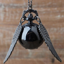 Harrys  Golden Wings Snitch Toy Watch Quartz Pocket Watch Necklace Quidditch Balls Snitch Necklace Toys Fly Thief harri potter quidditch golden snitch limited supply