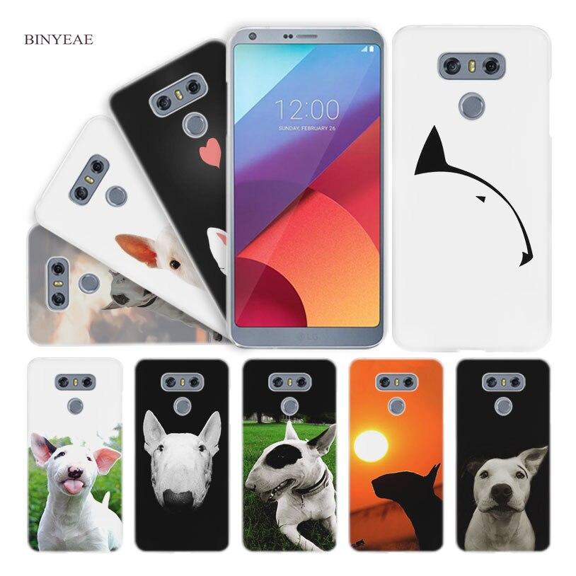 BINYEAE bullterrier bull terrier Hard Clear Case Cover for LG Q6 G6 Mini G5 SE G4 G3 V10 V20 V30