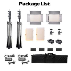 Image 5 - Набор для студийного освещения SPLASH TL 600S 2, светодиодная лампа для фото  и видеосъемки Youtube, 600 ламп, 25 Вт, штатив 200 см, аккумулятор