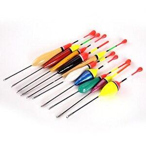 Image 2 - 10 PCS/charge hohe qualität gemischt größe farbe eis angeln schwimm float boje tintenfisch tackle zubehör fisch float