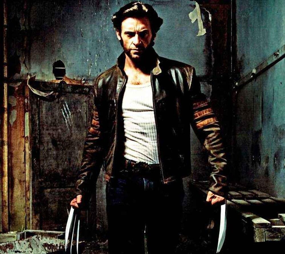high Quality Leather Jacket Men Cosplay X Men Wolverines James Logan Howlett Pu Motorcycle Suede Jacket Jacket Male Windbreaker