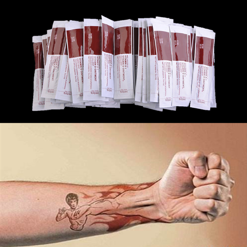 200Pcs/lot Tattoo Aftercare Cream Care Lotion Anti Scar Vitamin Ointment For Tattoo Body Art Permanent Makeup Tattoo ink image