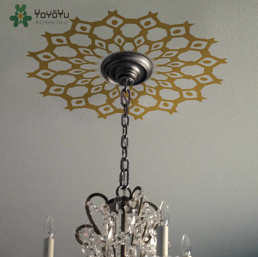 Ceiling Medallion Decal Copper Tribal
