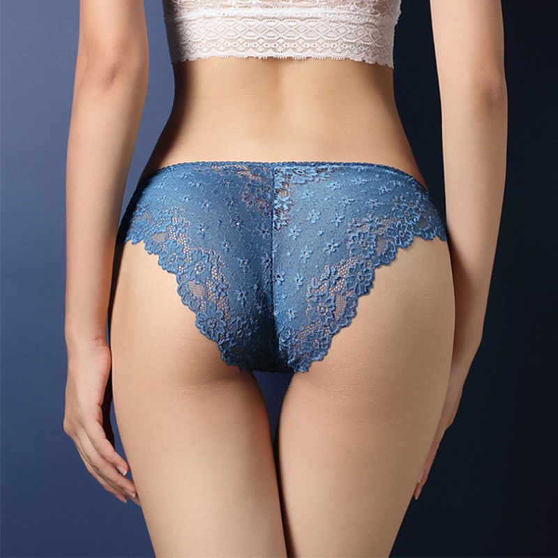 luckymily Women's Underwear Sexy Lace Transparent Low Waist Hollow T Back   Panties   Lady Briefs Thongs Women Lingerie Sexy   Panties