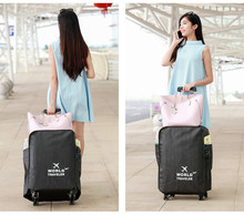 цена на Vertical section 20 inch to 30 inch Suitcase coffee/blue/Rose Non-woven Fabric dust cover zipper opening luggage protection bag