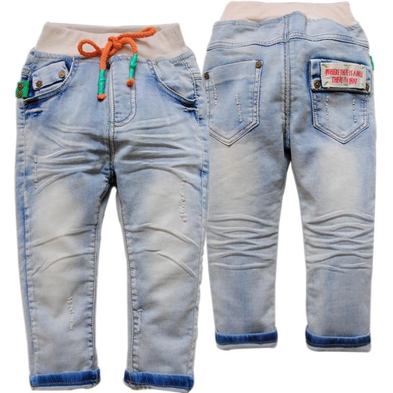 3867 dětské měkké džíny dívky chlapci dívky džíny děti - Oblečení pro miminka