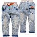 3867 macios das crianças calças de brim do bebê das meninas dos meninos calças jeans crianças jeans casual primavera outono calças jeans não se desvanece