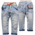 3867 suave de los niños pantalones vaqueros del bebé niños niñas niños jeans pantalones casual primavera otoño pantalones de mezclilla no se desvanecen