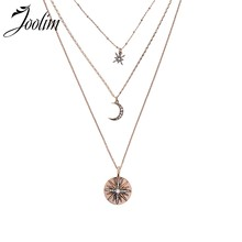 Joolim Antique or Starburst coeur oeil rétro collier en couches 3 rangées collier(China)