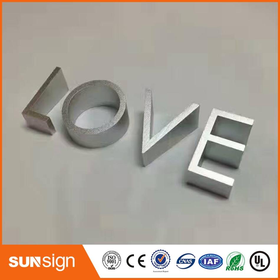 6 cm altezza ILOVEU alluminio lettere per il segno6 cm altezza ILOVEU alluminio lettere per il segno