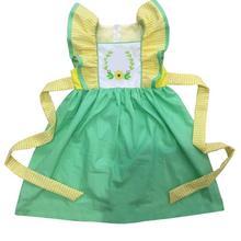 Puresun Factory Sale Infant Girls Dress Baby Girls Yellow Flutter Sleeve Dress With Belt Girl Summer Embroidery Boutique dress цена 2017