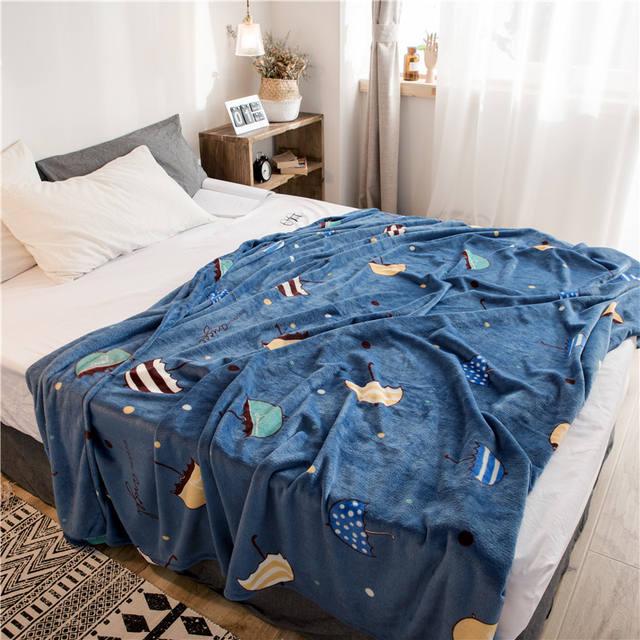 Warm Fleece Bed Blanket