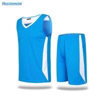 2018 Men Basketball Jersey Sets Uniforms Kits Adult Sports Clothing Breathable Basketball Jerseys Shirts Shorts DIY
