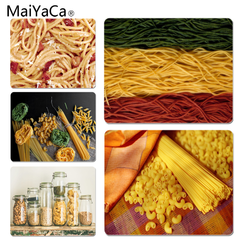MaiYaCa Spaghetti Large Mouse pad PC Computer mat Size for 18x22x0.2cm Gaming Mousepads