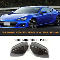 Carbon Fiber Add On Auto Racing Side Mirror Covers Shell ForToyota GT86 FT86 Subaru BRZ For
