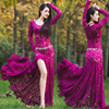 Bellydance Oriental Eastern Belly Dance Diamond Embroidery Dancing Costumes Clothes Bra Belt Scarf Skirt Ring Dress