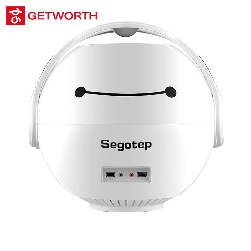 GETWORTH T13 The White Mini Computer Gift Girl Office Computer I3 7100 120G SSD 8G RAM Fan Cooling 230W PC Desktop Cute Shape
