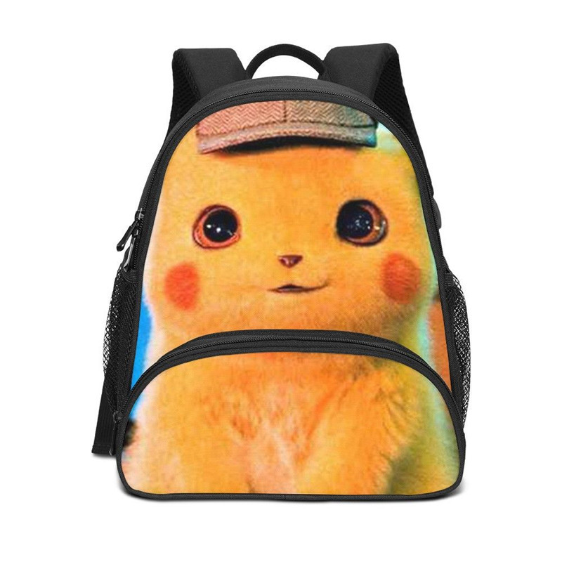 Mini Backpacks For Kids Boys Girls Cute Cartoon Detective Pikachu 3D Printing Bookbag School Bag Shoulder Bags Casual DaypacksMini Backpacks For Kids Boys Girls Cute Cartoon Detective Pikachu 3D Printing Bookbag School Bag Shoulder Bags Casual Daypacks