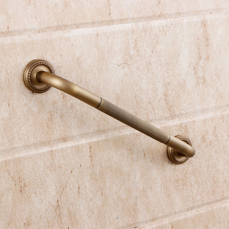 Modern European Classical Full Copper Bathroom Toilet Bathtub Handrails  Antique Bathroom Towel Rack Metal Pendant Thick