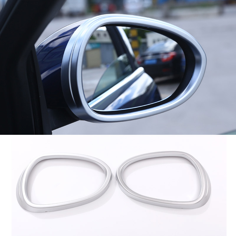 New!! For Alfa Romeo Giulia 2017 ABS Matte Chrome Side Rearview Mirror Frame Cover Trim Set of 2pcs Car Accessories