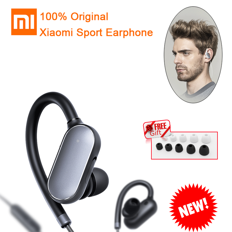 Original Xiaomi Mi Sports Bluetooth 4.1 Headphones Music Earphone with Mic Waterproof Wireless Headset for iPhone Telephone #c0 lymoc v8s business bluetooth headset wireless earphone car bluetooth v4 1 phone handsfree mic music for iphone xiaomi samsung