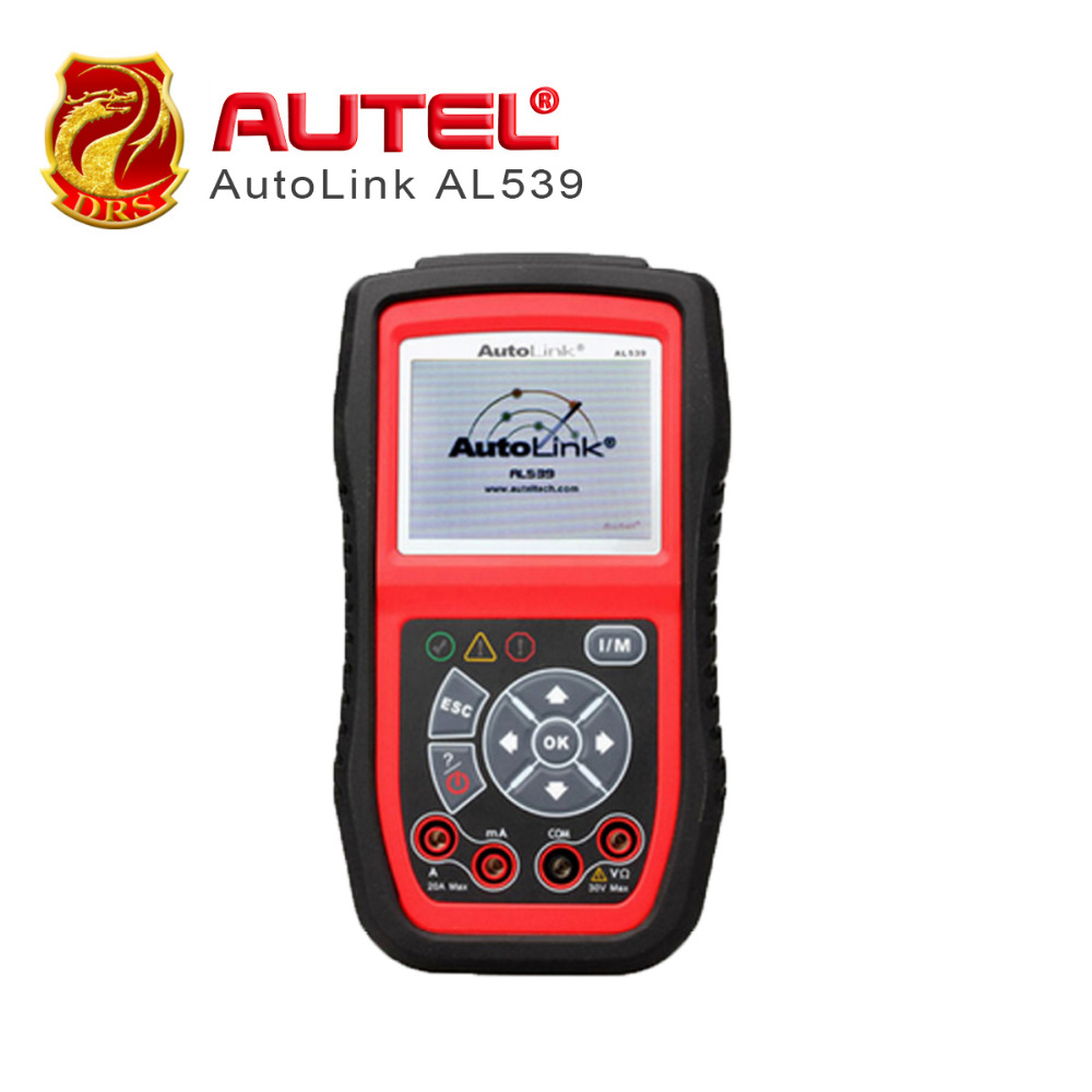 Autel AutoLink AL539 OBD II Car Scanner Tools Diagnostic Tool Can Read AVOmeter MIL Scan Tools Free Update Via Website car diagnostic scan tool autel autolink al419 obd ii