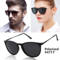 Fashion Vintage Cat Eye Polarized Sunglasses Men Women Brand Designer Erika Sun Glasses Mirror Lens 55mm UV400 Oculos R-B4171