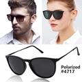 Moda vintage cat eye óculos polarizados óculos de sol homens mulheres marca designer uv400 oculos erika óculos de sol da lente do espelho 55mm r-b4171